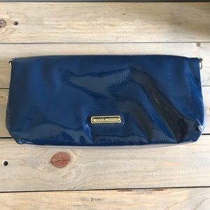 Steve Madden Faux Patent Leather Fold Over Clutch